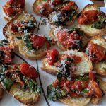 roasted cherry tomato bruschetta