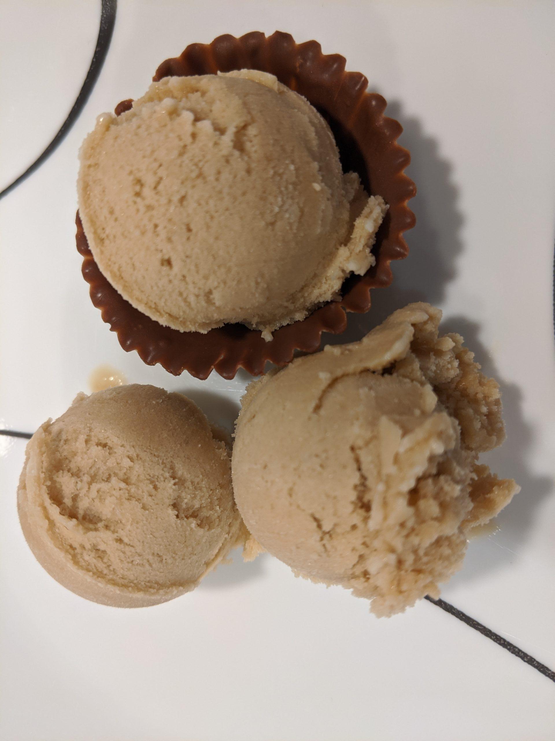 vegan espresso ice cream in chocolate cup