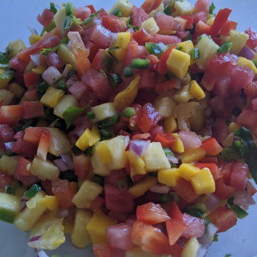 watermelon pineapple salsa recipe