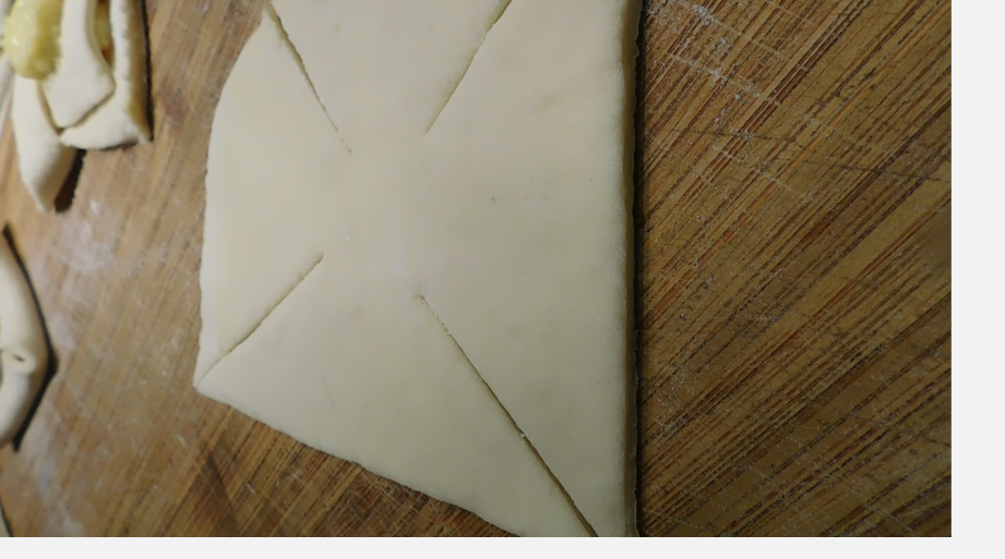 How to make a windmill Danish pastry shape