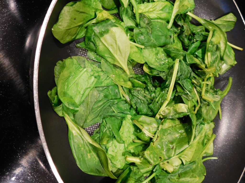 How to use freshly sautéed spinach for a recipe