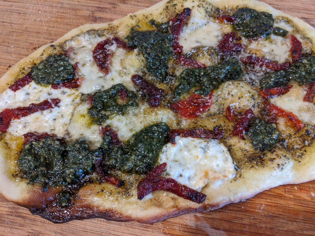 pesto flatbread recipe vegetarian
