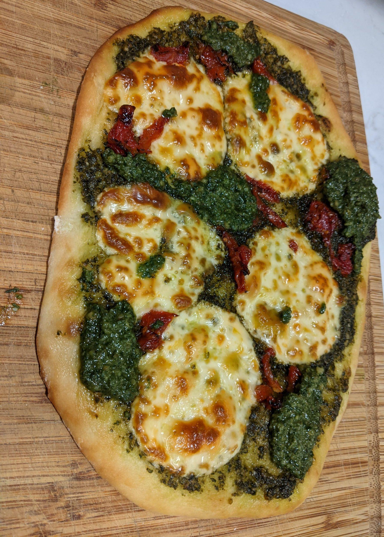 Vegetarian Pesto Flatbread Recipe