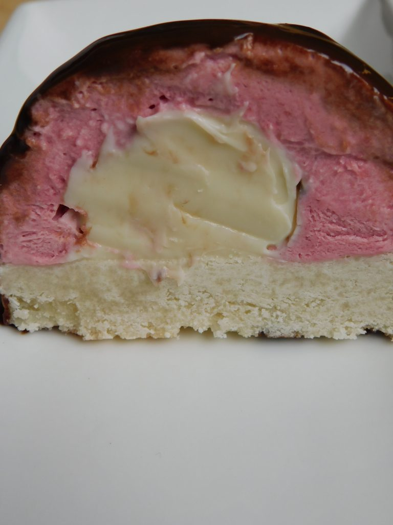 raspberry mousse dome cake